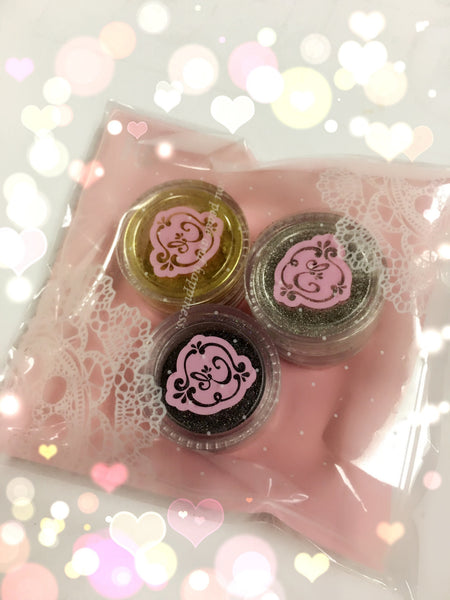 Chrome & Glitter Pigment set !~