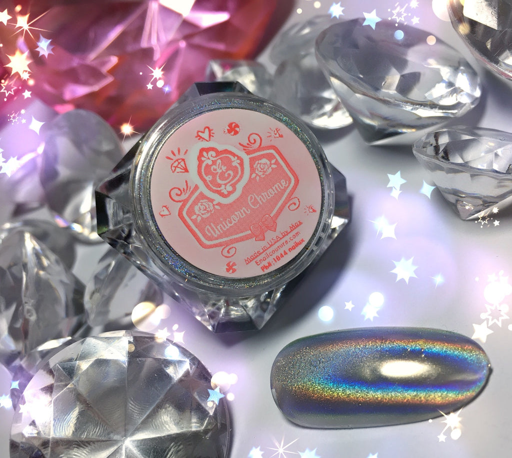 Unicorn Chrome~! magic hologram pigment