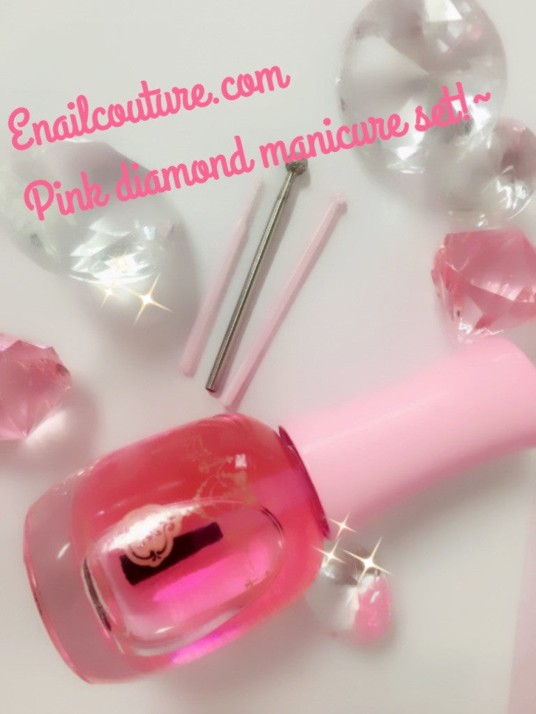 Pink Diamond Manicure Drill Bit Set