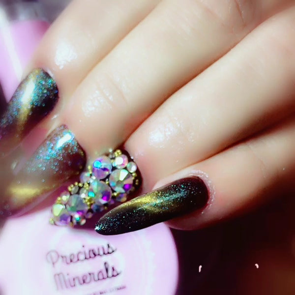 Twilight~! 3D Magic Top Coat, Precious Minerals (Cat Eye Nail Gel Polish Chameleon UV LED Shining )