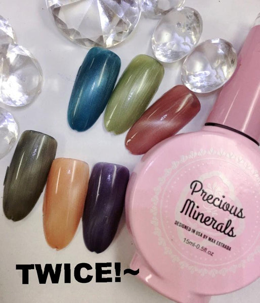 Twice!~ , Precious Minerals limited edition 3d magic color (Cat Eye Nail Gel Polish Chameleon UV LED Shining )