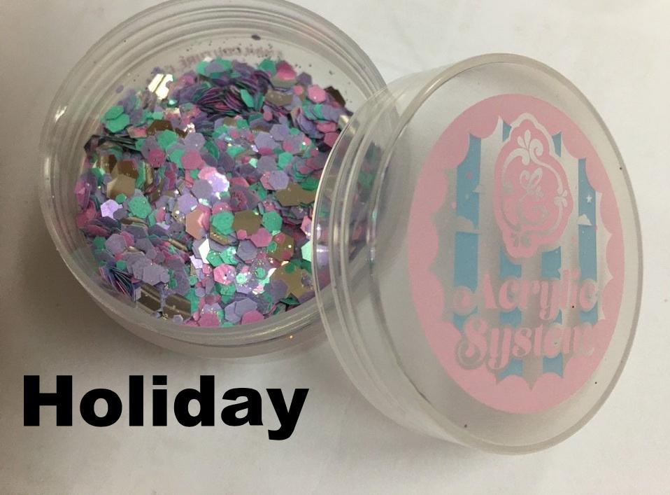 Holiday, pure glitter mix!