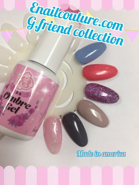 G.Friend , french  BB ombre gel polish !~