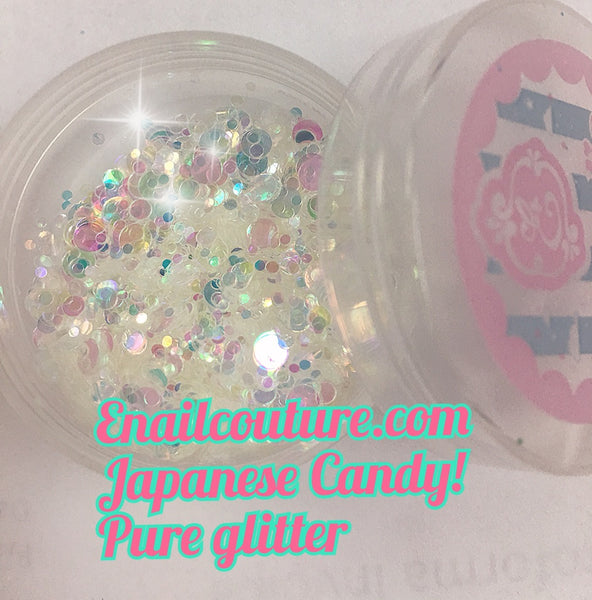 Japanese Candy , pure glitter mix!