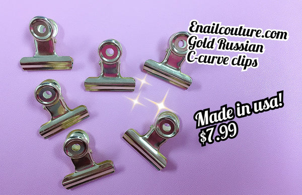 Gold-Russian C - Curve Clips 29MM set