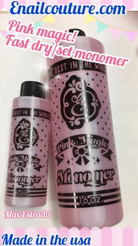 pink magic fast dry/set monomer 16oz