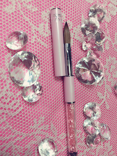 The Pink Diamonds Nail Brush Grand!~ (size 10 kolinsky acrylic brush )