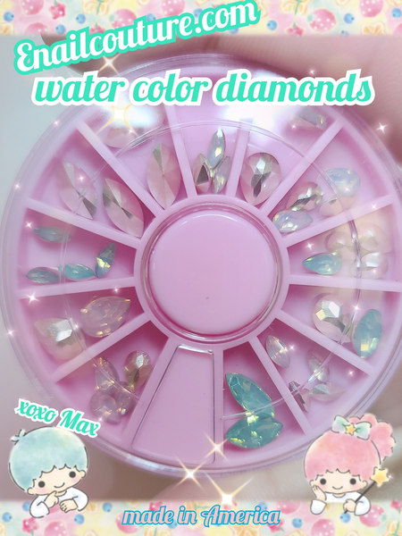 Watercolor diamond carousel !~ mix shape (Crystal Rhinestones Set,Rhinestones Nail Art Set Nail Gems Iridescent Clear Class Multi-Shape Flat Back Shiny Nail Jewels for Nail Art DIY Crafts Phones Clothes Shoes Jewelry Bag)