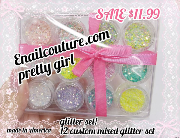 pretty girl glitter set! magic pastel hologram glitter set