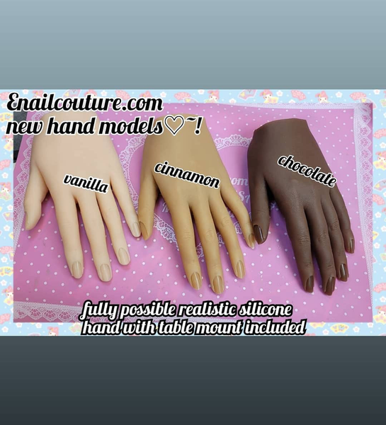 2020 Newest Nail Art Model Female Silicone Practice Hand Mannequin ( Movable Nail Practice Hand-Nail Art Painting Hand Model 3 skin tones)