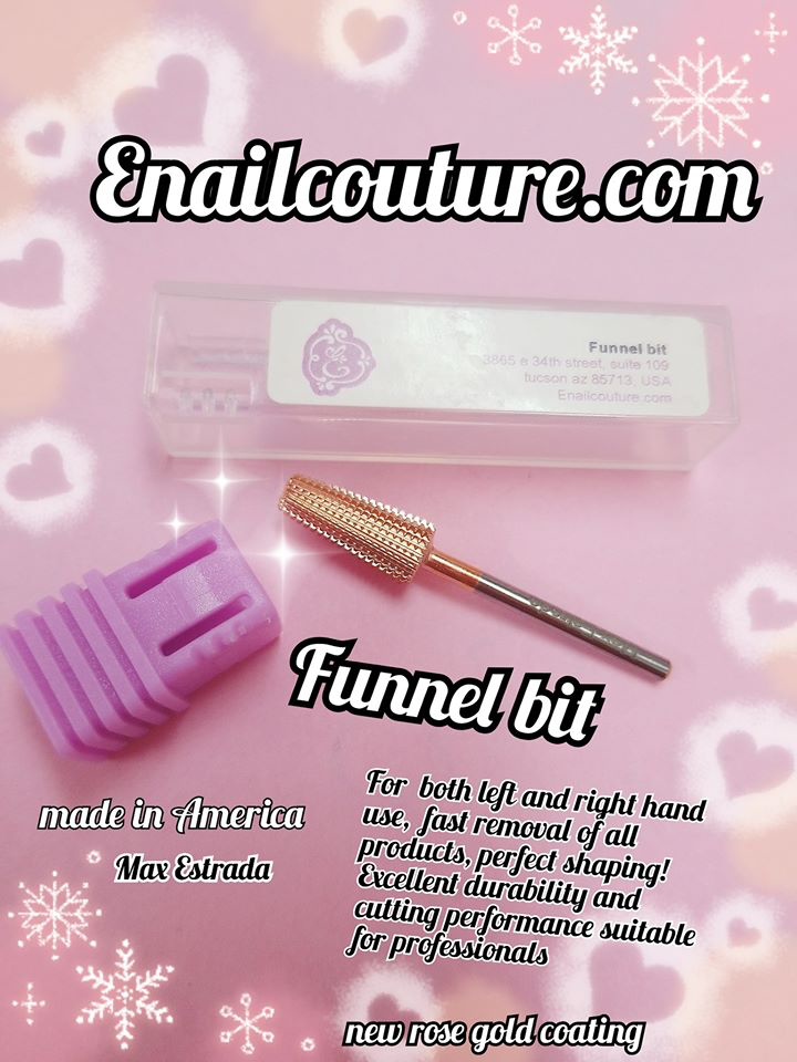 Funnel bit  !~ 5in1 rose gold nail bit