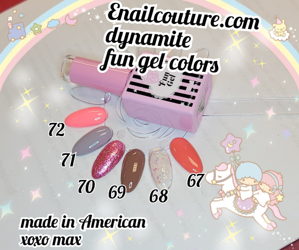 Dynamite FUN gel collection 2020  !~ (  BEAUTY Classic Gel Nail Polish Set - Colors Gel Polish Kit Popular Nail Art Design Soak Off LED Lamp Nail Polish Gel Manicure)