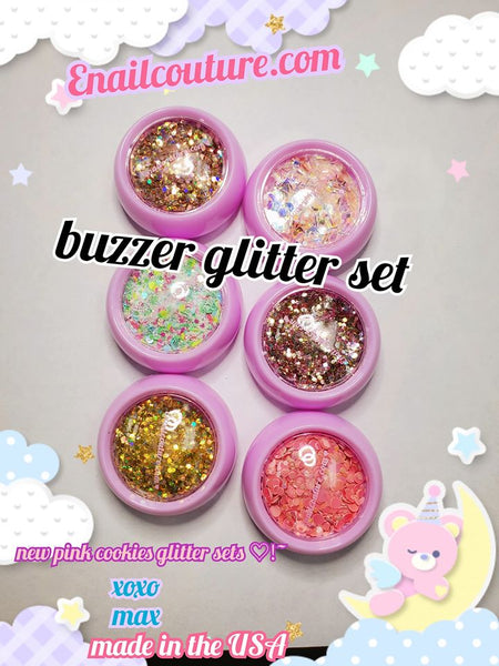 pink cookies glitter sets!~ (Holographic Glitter Colors/set Splarkly Nail Sequins Flake Acrylic Manicure Paillettes Ultrathin Face Body Glitters for Nail Art Decoration & DIY Crafting )