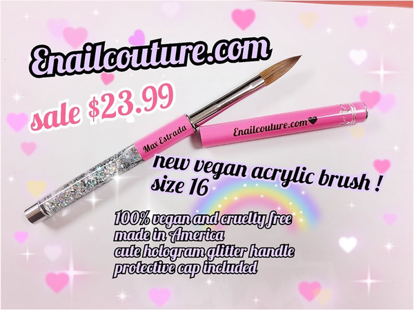 Candy Vegan Acrylic and Gel Brush series !~ (cruelty free nail art, gel and acrylic brushes)
