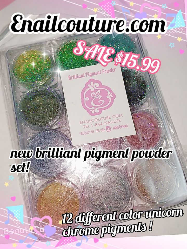 brilliant pigment powder! magic hologram pigment set