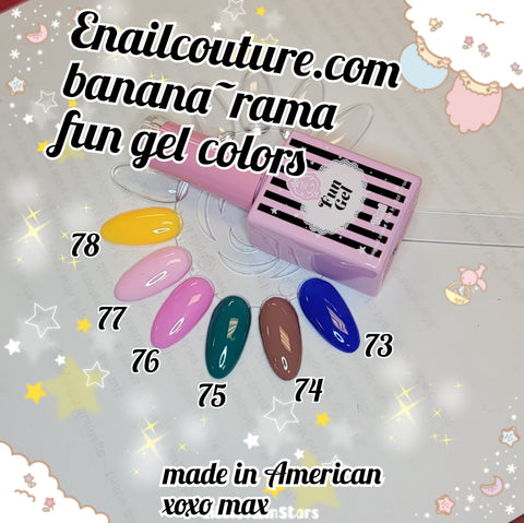 Banana~rama FUN gel collection 2020  !~ (  BEAUTY Classic Gel Nail Polish Set - Colors Gel Polish Kit Popular Nail Art Design Soak Off LED Lamp Nail Polish Gel Manicure)