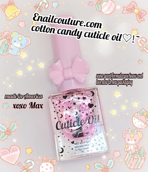 Cotton Candy Cutie Cuticle Oil ~! (Cuticle Oil Vitamin E Vitamin B Nail Strengthener Cuticle Revitalizing Oil-Nourish, Soothe & Moisturize-Nourishes and Moisturizes Dry Nails and Cuticles.)