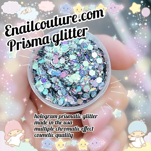 Prisma !~ , Pure Glitter Mix! Hologram prismatic chrome glitter (Metallic Shining Flakes Nail Art Decoration Decals Iridescent Sparkly Mermaid Nail Powder for Nail Eye Body Face Art Accessories)