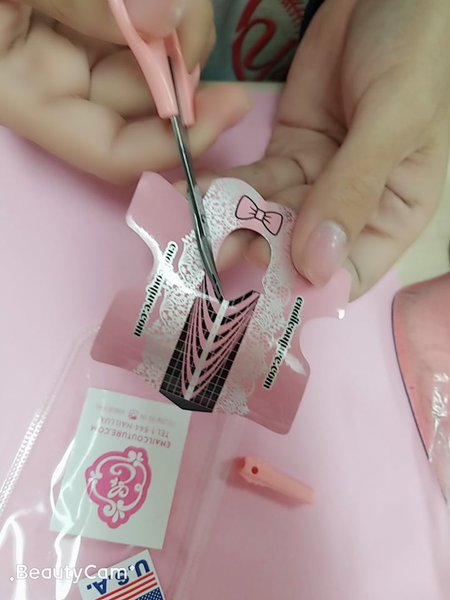 pink scissors with free cap !(cuticle scissors, nail art tool multi purpose)