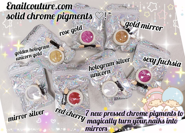 Chrome Mirror ~! magic hologram pigment ( Solid Pressed laser powder Nail Art Mirror Pigment Nail Glitter Powder Gold/ Silver Shining Chrome Decoration UV Gel Polish)