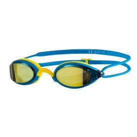 Zoggs Fusion Air Gold Mirror Swimming Goggles – Blue