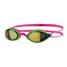 Zoggs Fusion Air Gold Mirror Swimming Goggles – Pink