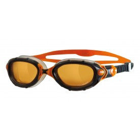 Zogss Predator Flex Polarised Ultra Swimming Goggles – Black/Orange