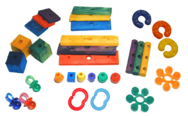 Wood & Plastics Parts Bag - 30 pcs