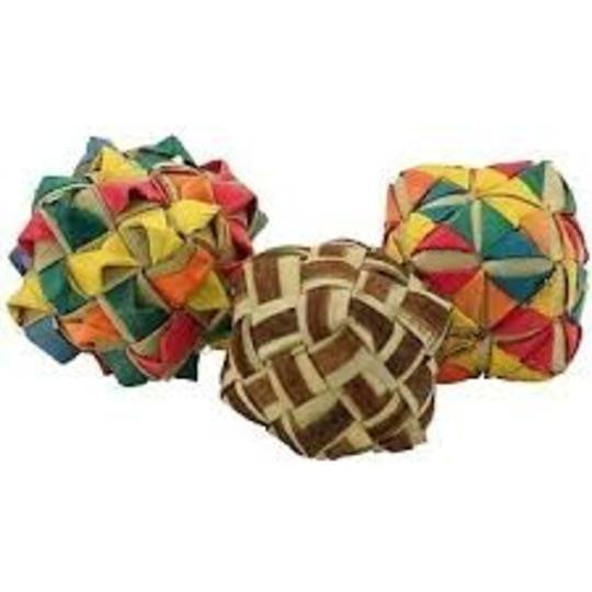 Square Woven Foot Toys - 3 pk