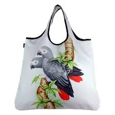 African Grey Reusable Shopping  Bag