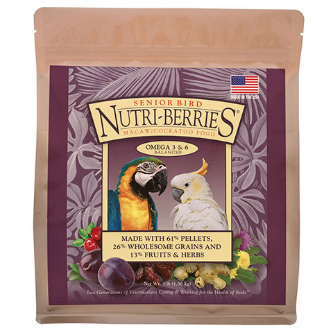 Senior Bird Nutri-Berries for Macaws & Cockatoos