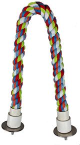 Cotton Rope Cable Perch - Colors vary