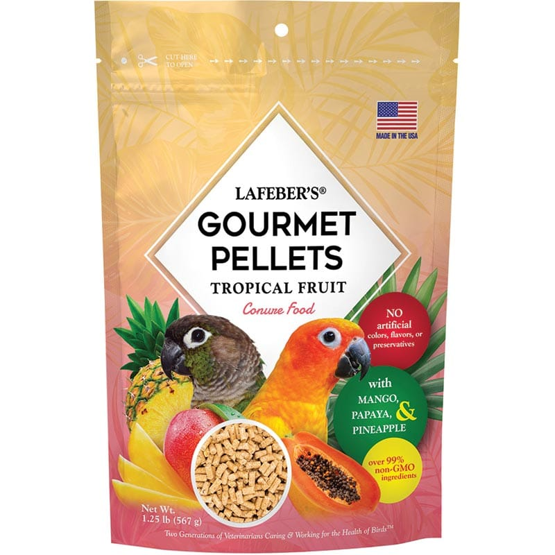 Lafeber Tropical Fruit Gourmet Pellets for Conures - 1.25 lb