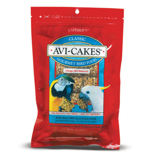 Classic Avi-Cakes for Macaws and Cockatoos - 1 lb