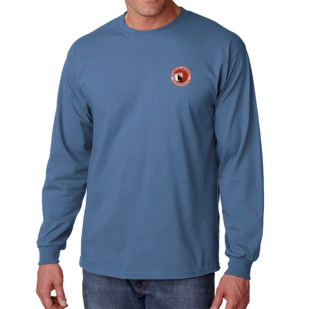 Long Sleeve Tee Shirt - Indigo Blue