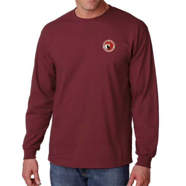 Long Sleeve Tee Shirt - Maroon