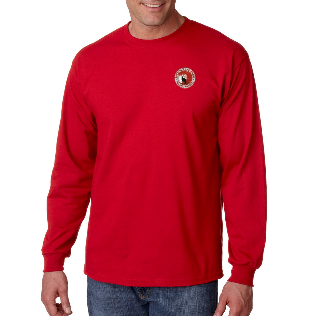 Long Sleeve Tee Shirt - Red