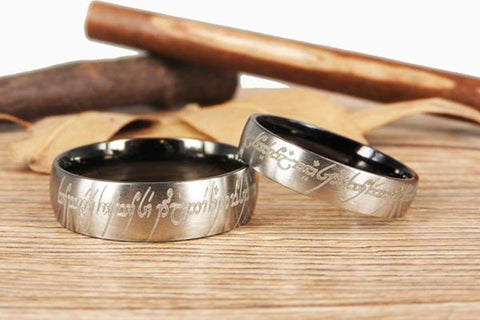 Wedding Bands for The lord of the Rings Fans