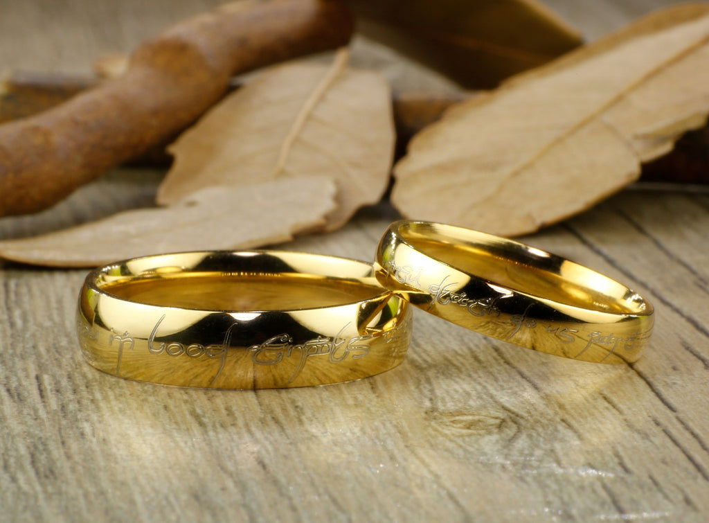titanium anni anniversary copy matte ring men band products of wedding gold handmade dome couple
