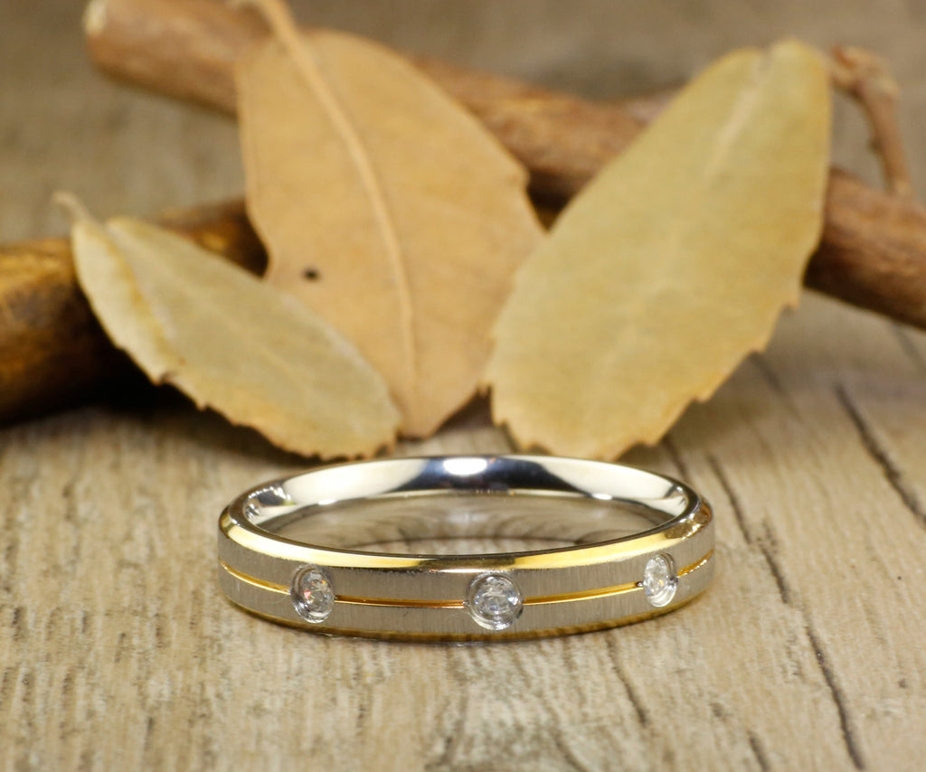 Handmade Customize Gold Promise Ring, Engagement Ring
