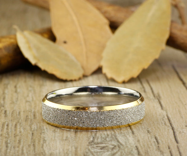 Handmade Customize Gold Promise Ring, Wedding Band, Women Ring, Couple Ring, Titanium Ring, Anniver sary Ring