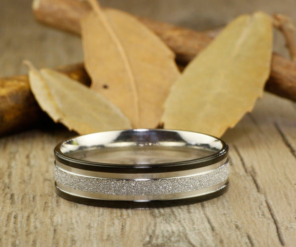Express service, Special Custom Christmas Gifts ,Valentine's Day Gifts, His and Her Promise Rings , Black Wedding Titanium Rings Set - jringstudio