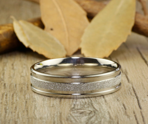 Handmade Wedding Band, Men Ring, Couple Ring, Titanium Ring, Anniversary Ring