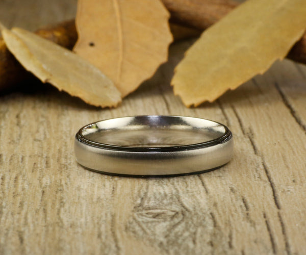 Handmade Dome Matte Wedding Band, Women Ring, Couple Ring, Titanium Ring, Anniversary Ring, Promise Ring, Bride Ring, Bridial Ring Jewerly
