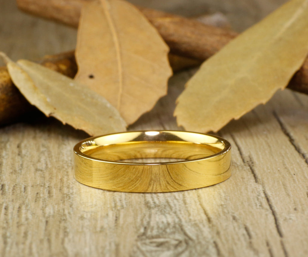 rings rose plain wedding court bands gold fc flat