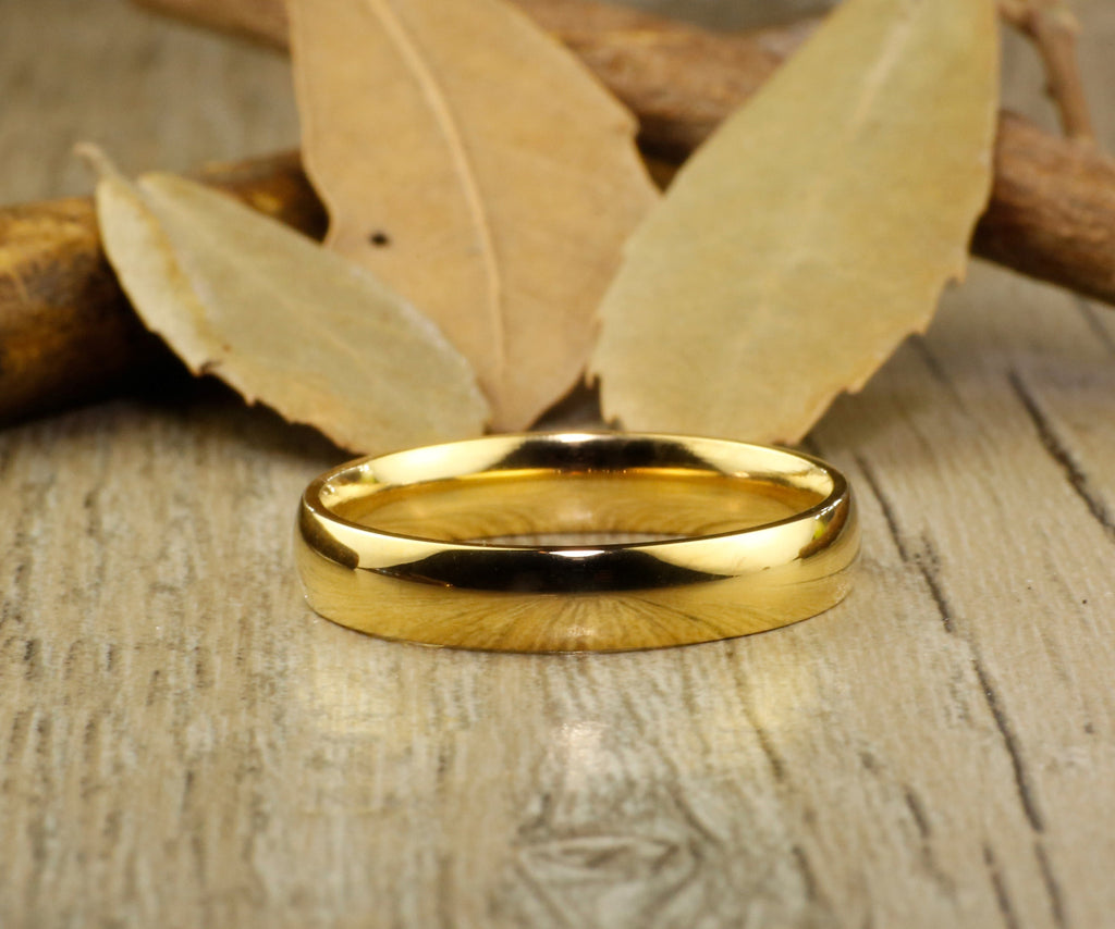 bands of dome matching gold copy anniversary titanium wedding tit set products handmade rings plain couple bafe