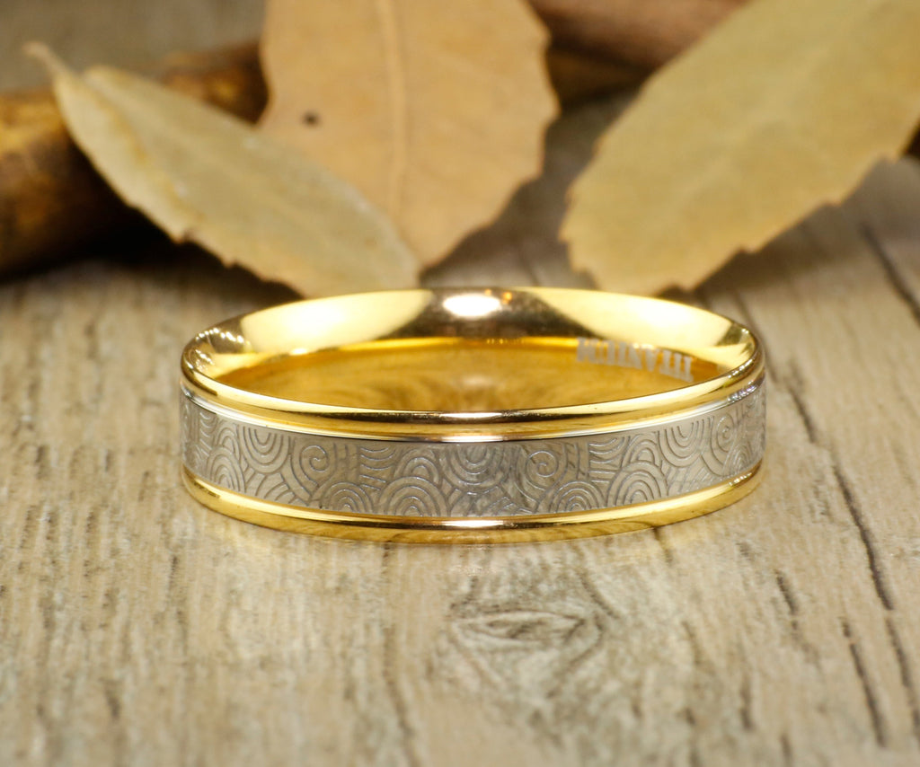 of couple dome wedding ring band anniversary handmade gold copy titanium anni products men matte