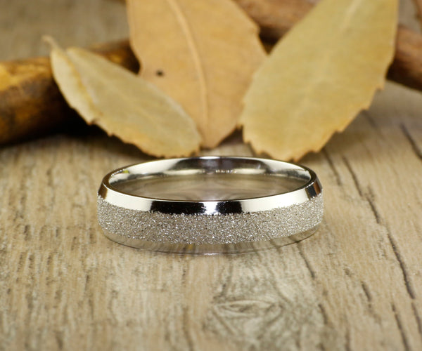 Handmade Wedding Bands, Couple Rings Set, Titanium Rings Set, Anniversary Rings Set
