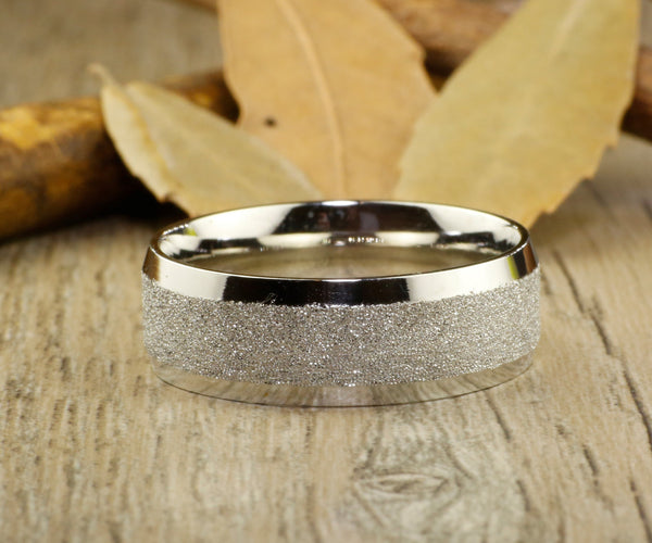 Handmade Wedding Band, Men Ring, Couple Ring, Titanium Ring, Anniversary Ring, Unisex Ring, 8mm