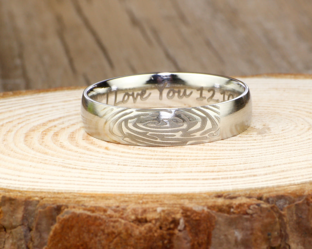 sound soundwave stainless custom jewellery steel product mens rings jewelry wave ring